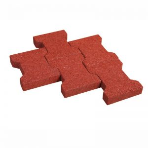Interlocked rubber tiles PI 40