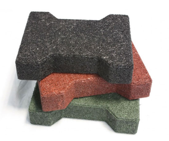 rubber tiles - rubber pavers